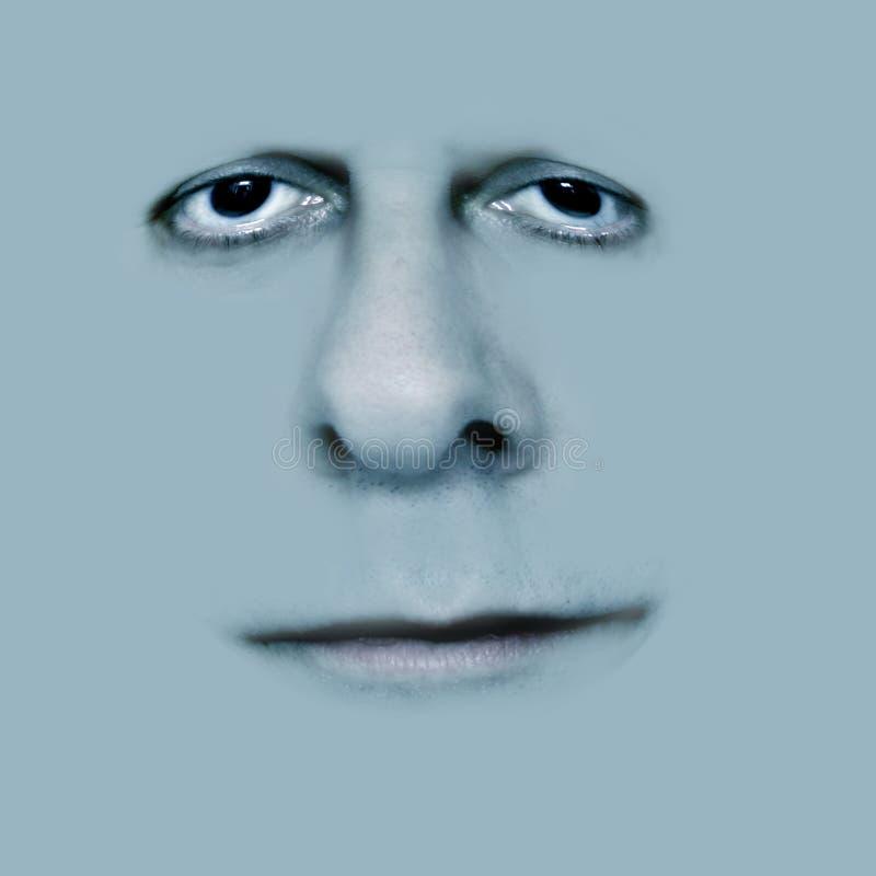 Sonrisa gris foto de archivo libre de regalías