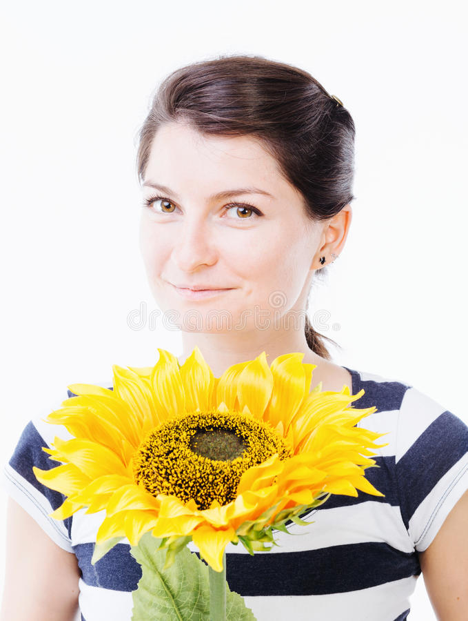 Sonrisa hermosa de la muchacha imagen de archivo libre de regalías