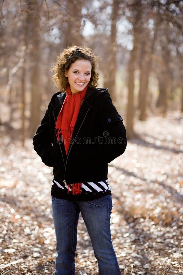 Sonrisa hermosa de la mujer fotos de archivo libres de regalías