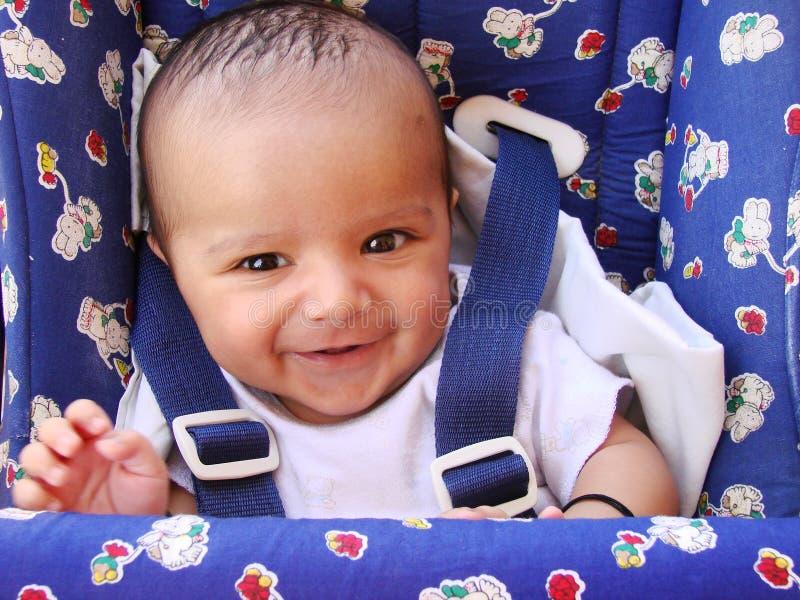 Sonrisa india del bebé fotografía de archivo