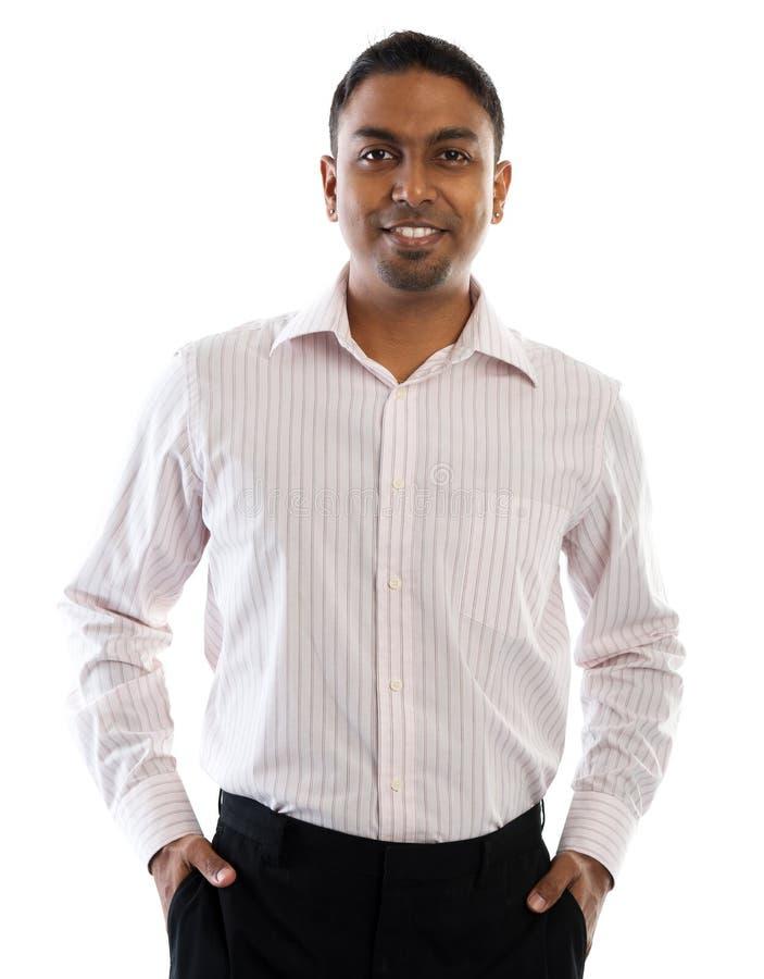 Sonrisa india del hombre. fotografía de archivo libre de regalías