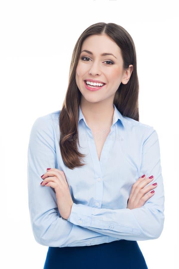 Sonrisa joven de la empresaria imagenes de archivo