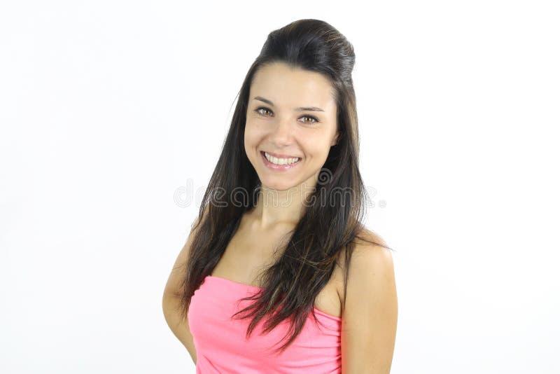 Sonrisa joven de la hembra fotografía de archivo libre de regalías