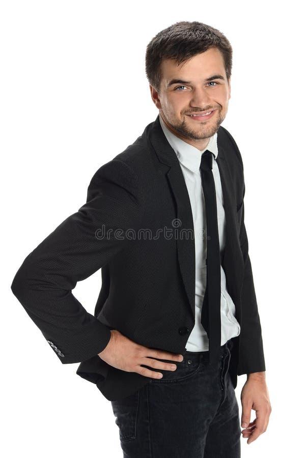Sonrisa joven del hombre de negocios imagen de archivo libre de regalías