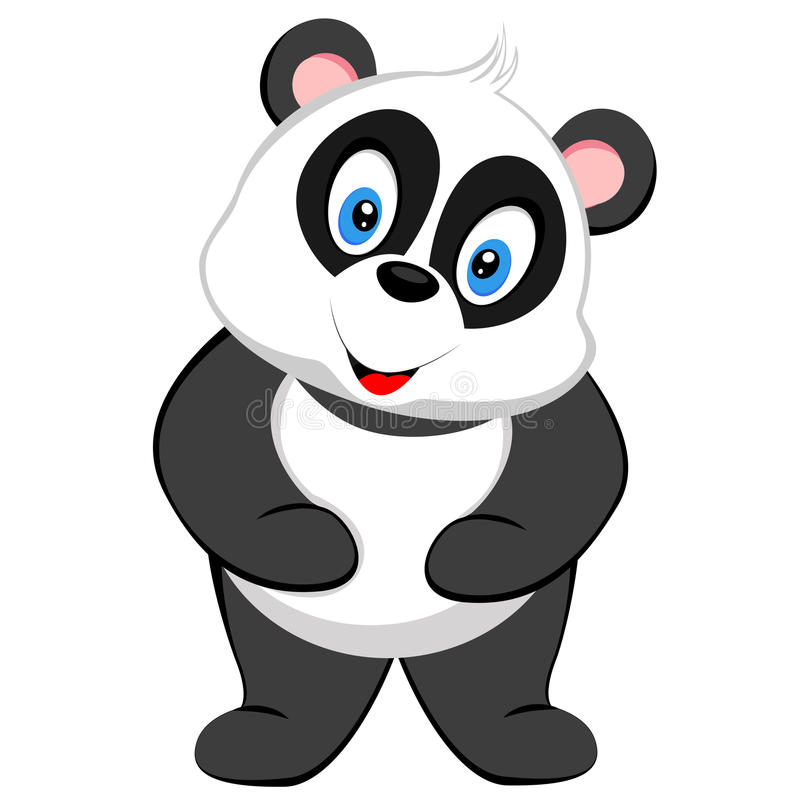 Sonrisa linda de la panda del vector libre illustration