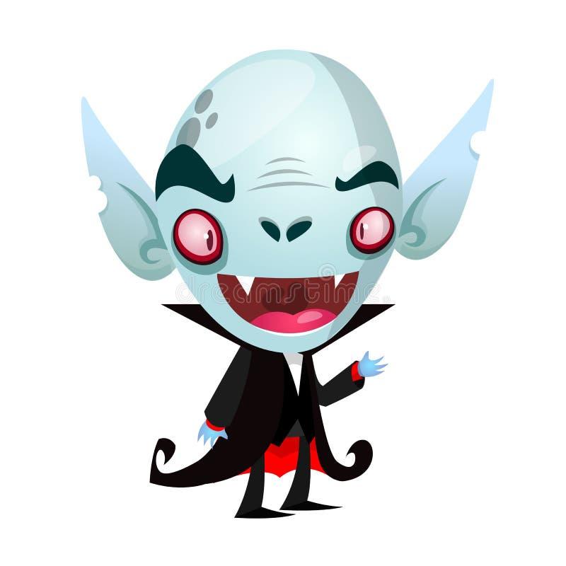 Sonrisa linda del vampiro de la historieta Ilustración del vector stock de ilustración