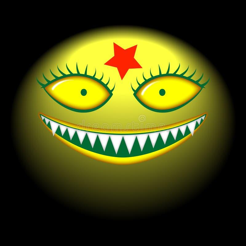 Sonrisa malvada del monstruo principal grande libre illustration