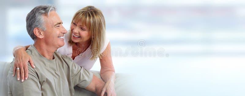 Sonrisa mayor de los pares foto de archivo libre de regalías