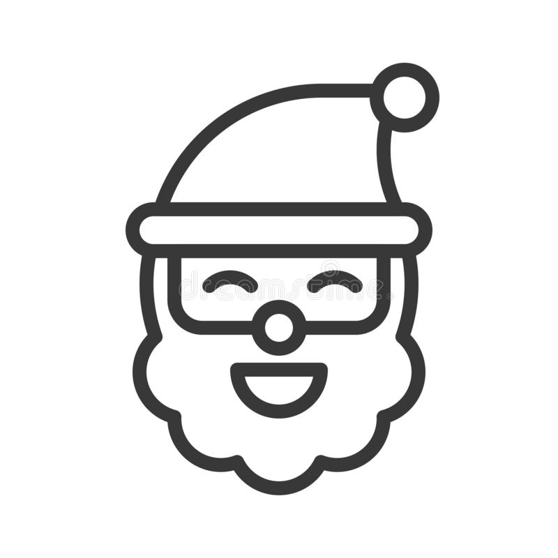 Sonrisa Papá Noel, sistema del tema de la Feliz Navidad, esquema s editable stock de ilustración