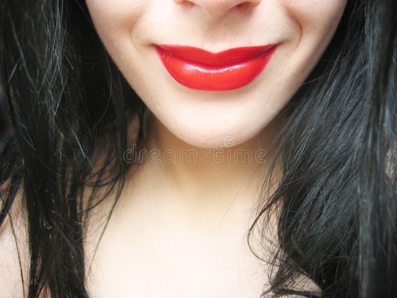 Sonrisa roja fotos de archivo libres de regalías