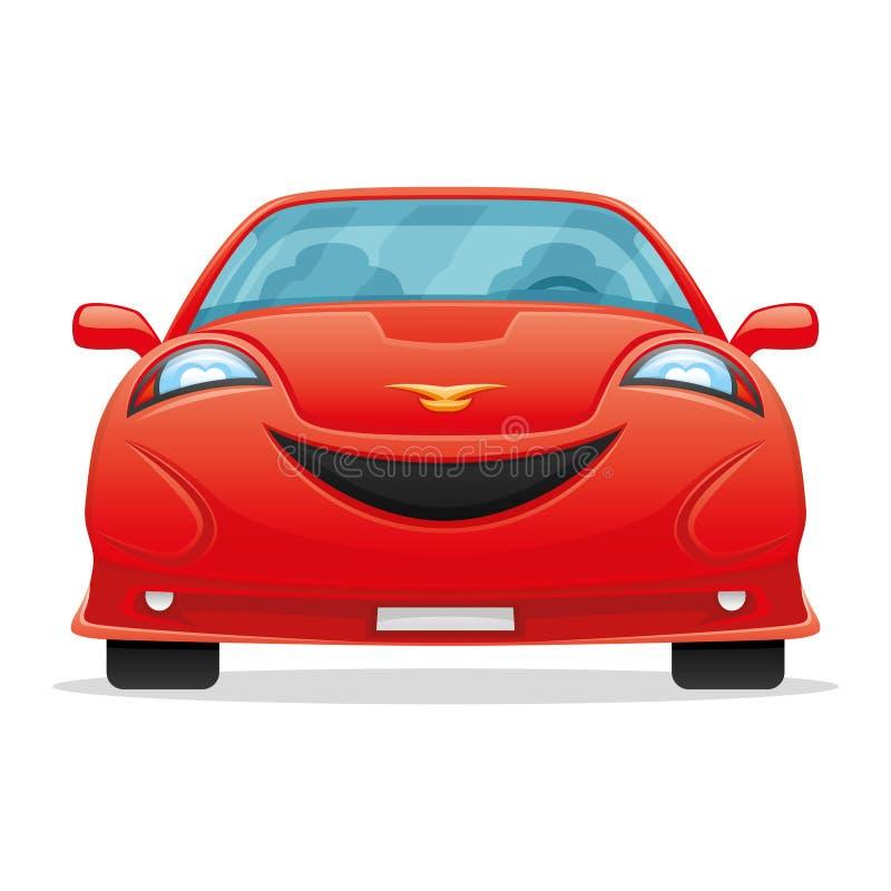 Sonrisa roja del coche stock de ilustración