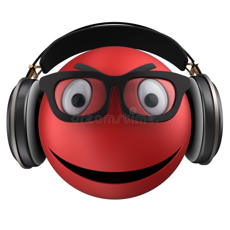 sonrisa roja del emoticon 3d libre illustration