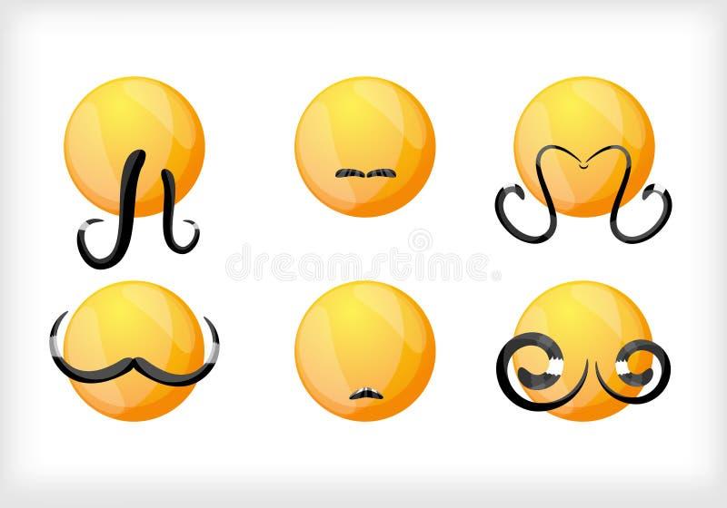 Sonrisa. Un conjunto de barbas libre illustration