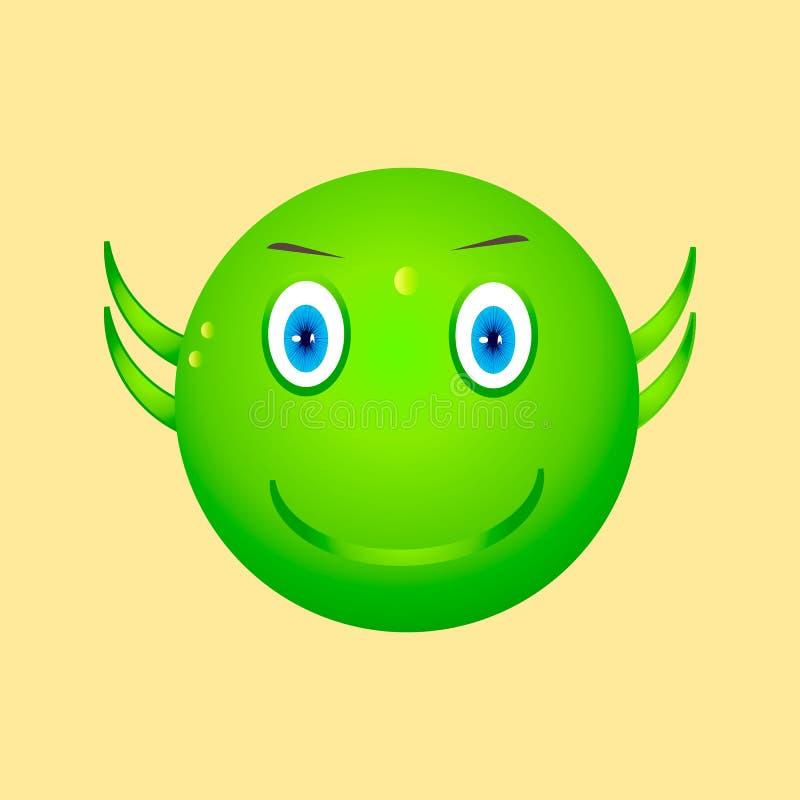 Sonrisa verde imagen de archivo libre de regalías