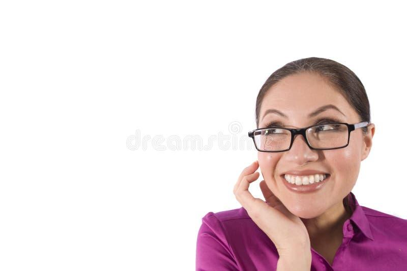 Sonrisas bastante asiáticas de una mujer fotografía de archivo