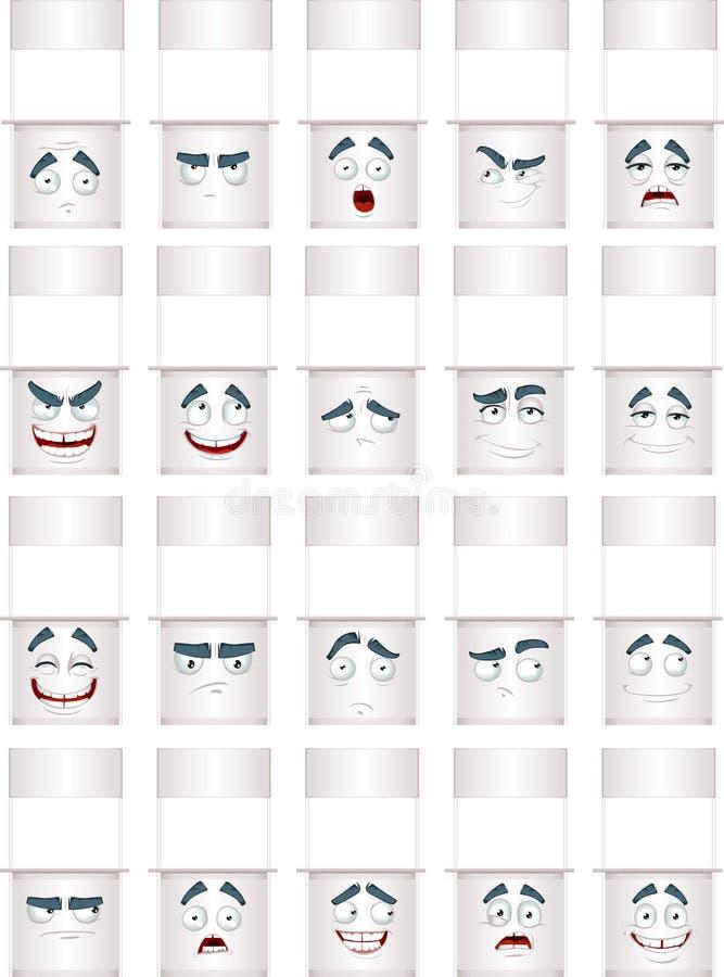 Sonrisas blancas del contador libre illustration