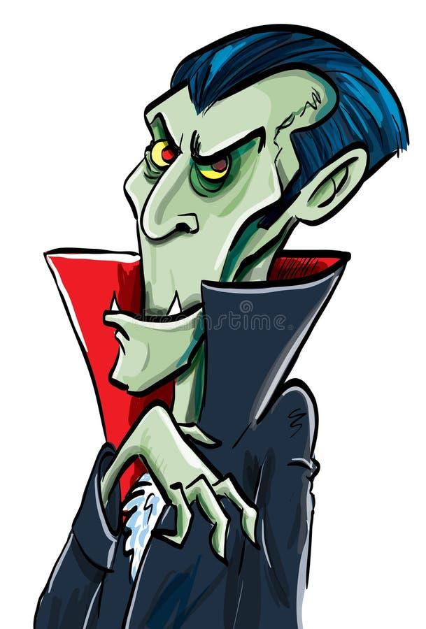 Sonrisas de Dracula de la cuenta de la historieta ilustración del vector