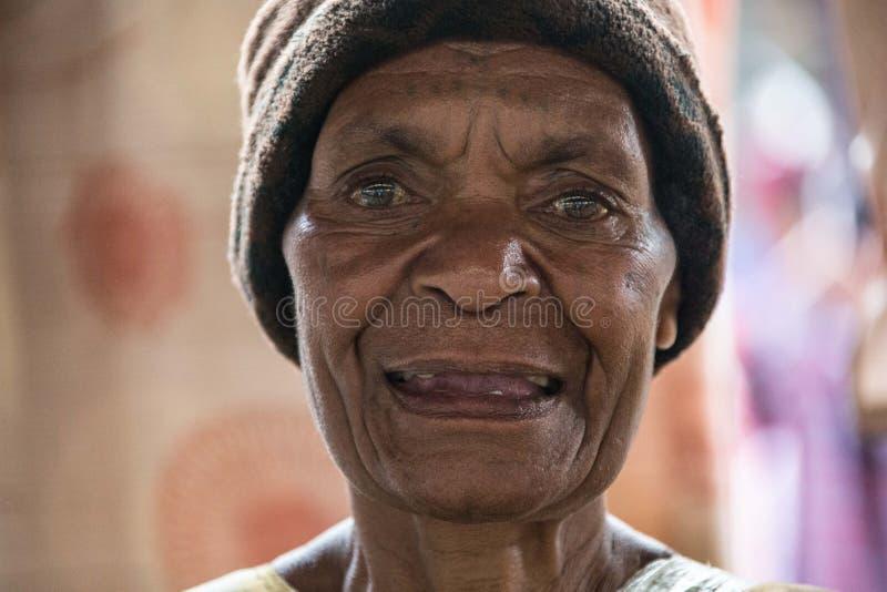 Sonrisas de Papúa Nueva Guinea fotos de archivo libres de regalías