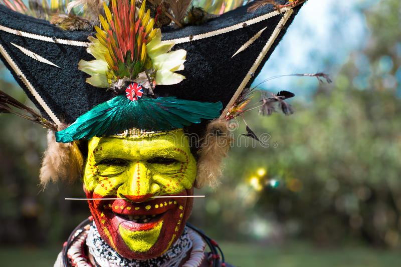 Sonrisas de Papúa Nueva Guinea imagen de archivo