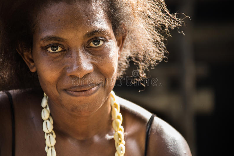 Sonrisas de Papúa Nueva Guinea fotografía de archivo libre de regalías