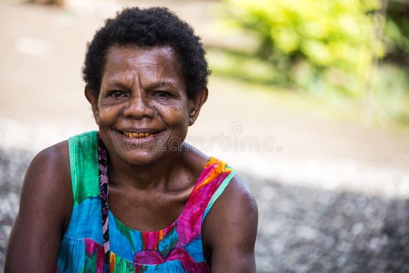 Sonrisas de Papúa Nueva Guinea imágenes de archivo libres de regalías