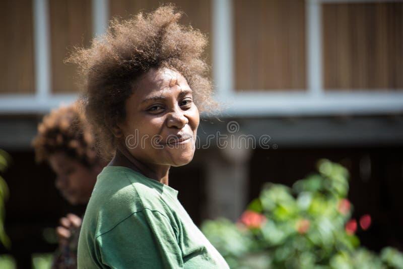 Sonrisas de Papúa Nueva Guinea fotos de archivo