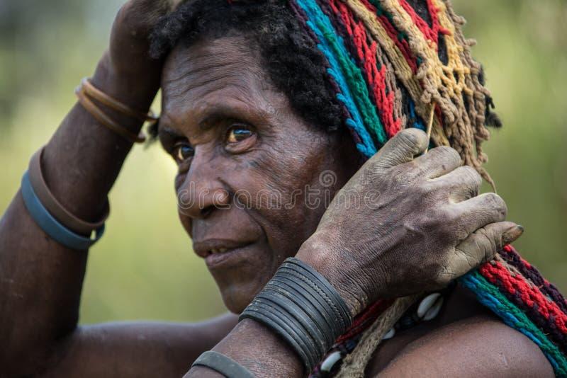 Sonrisas de Papúa Nueva Guinea foto de archivo libre de regalías