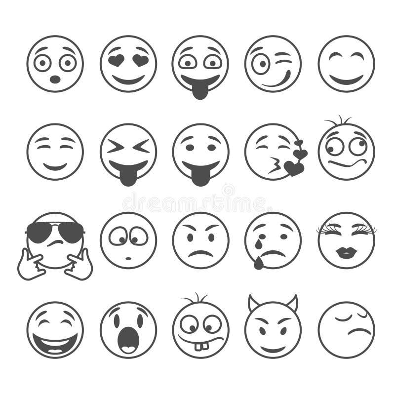 Sonrisas del círculo fijadas libre illustration