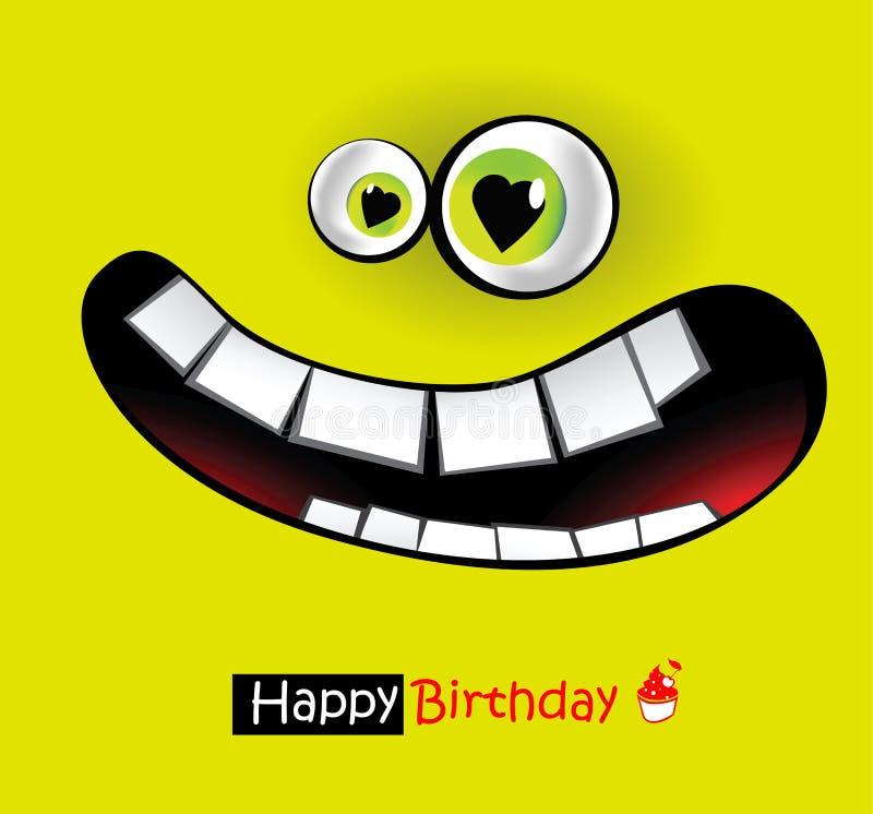Sonrisas del feliz cumpleaños libre illustration