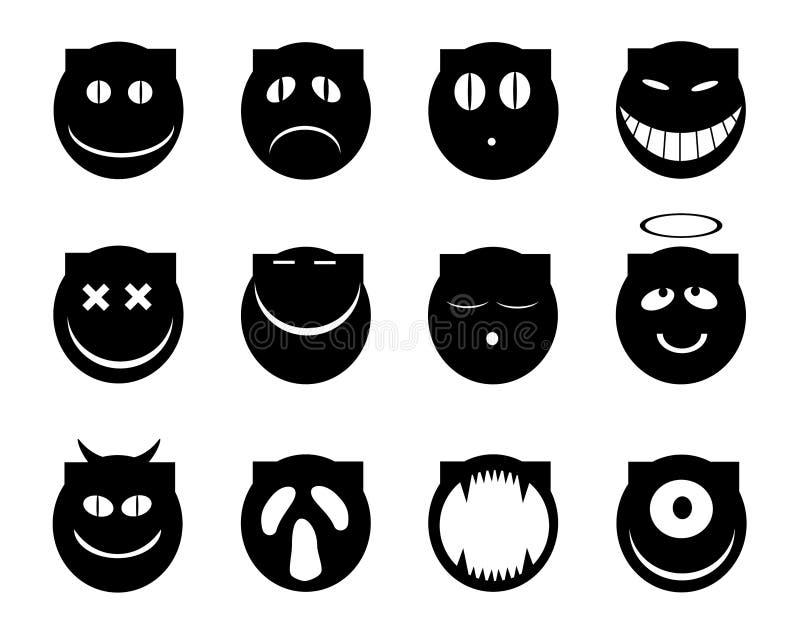 Sonrisas del gato stock de ilustración