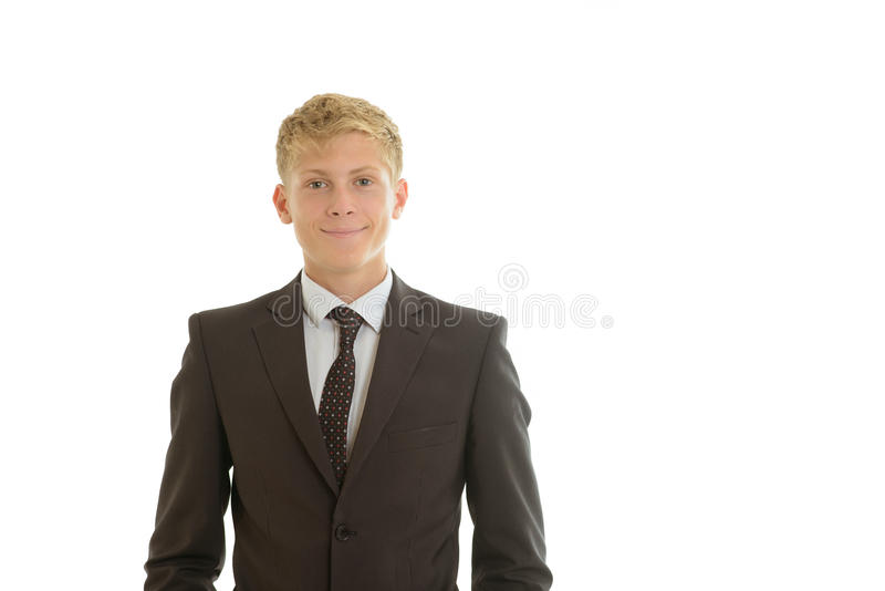 Sonrisas del hombre de negocios foto de archivo libre de regalías