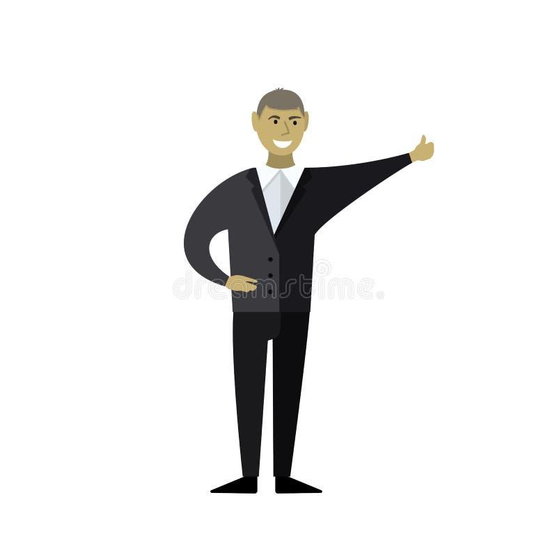 Sonrisas del hombre de negocios libre illustration