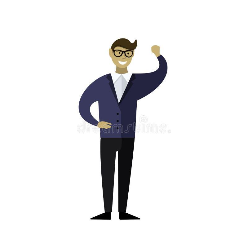 Sonrisas del hombre de negocios ilustración del vector