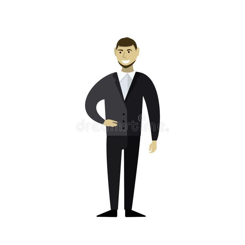 Sonrisas del hombre de negocios stock de ilustración