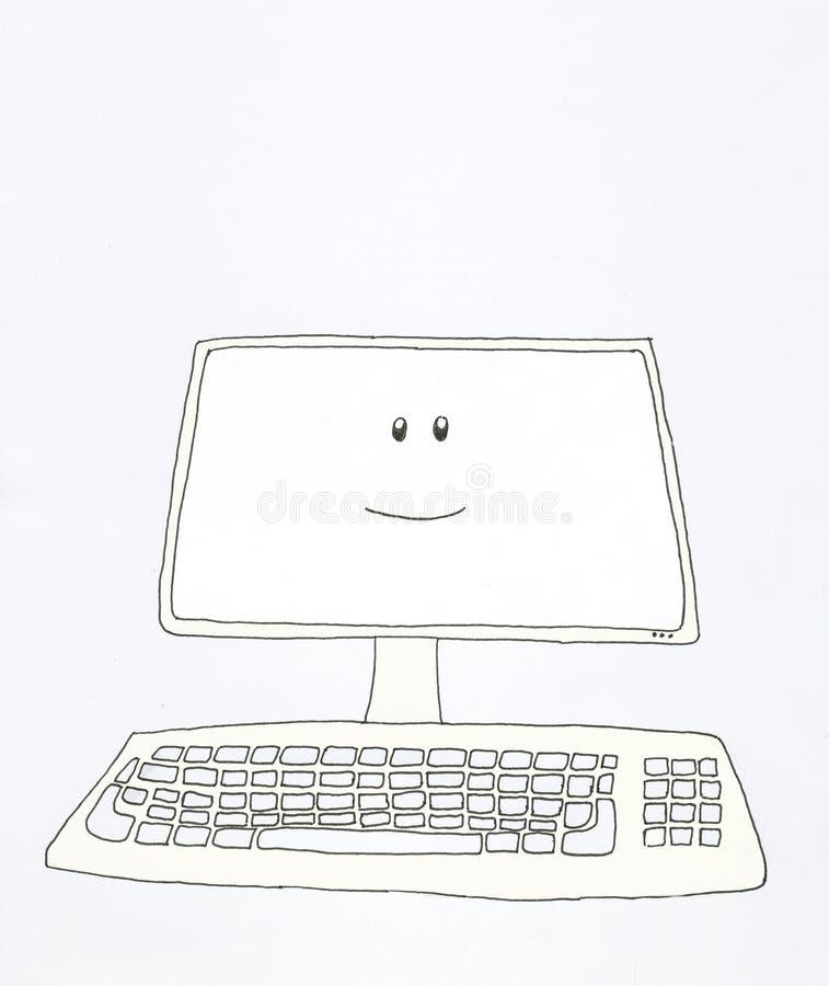 Sonrisas del ordenador stock de ilustración
