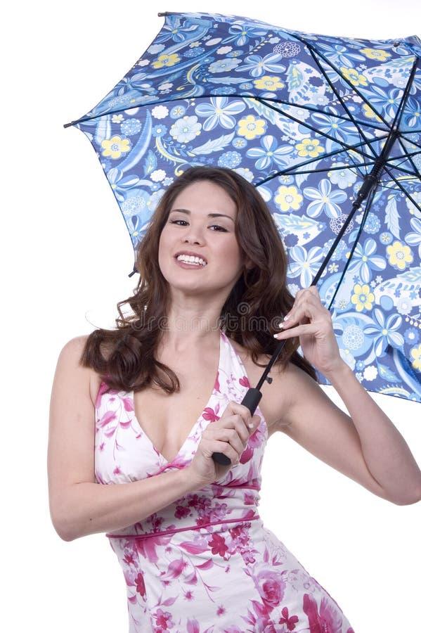 Sonrisas del paraguas fotografía de archivo