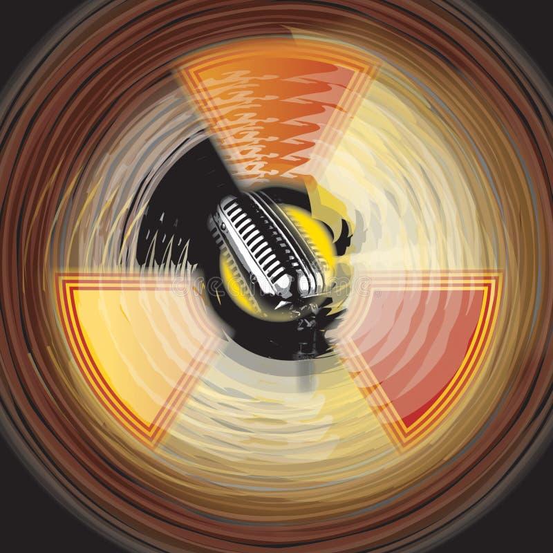 Sons radioativos ilustração stock