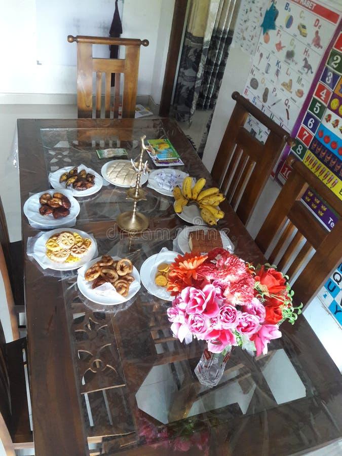 Sonstige Süßfleisch auf einem neuen Jahrestisch in Sri Lanka stockfotos