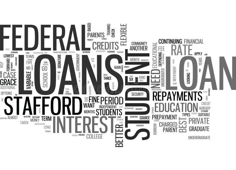 Sont un certain étudiant Loans Better Than que d'autres expriment le nuage illustration de vecteur