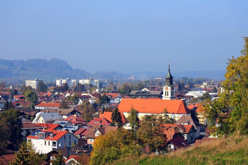 Sonthofen är en stad i Bayern arkivfoton