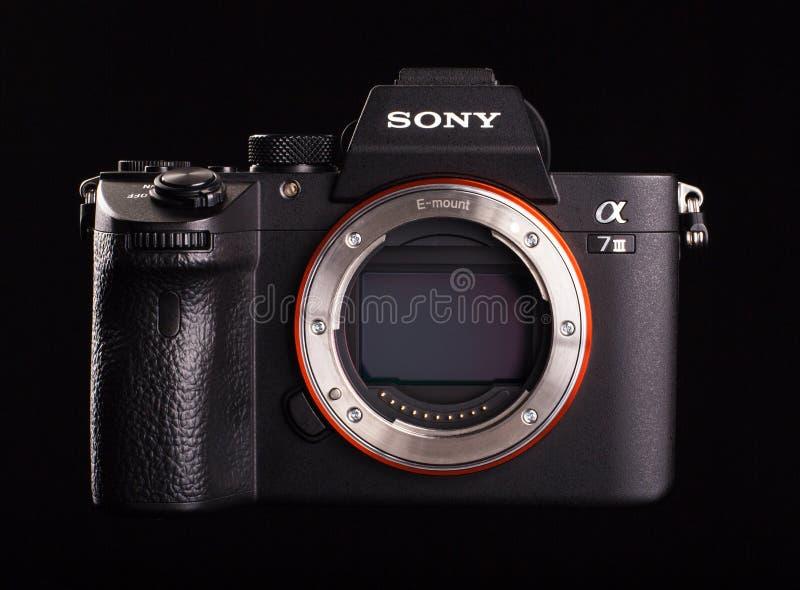 Sony άλφα a7 ΙΙΙ - mirrorless ψηφιακό σώμα καμερών φωτογραφιών στοκ φωτογραφίες με δικαίωμα ελεύθερης χρήσης