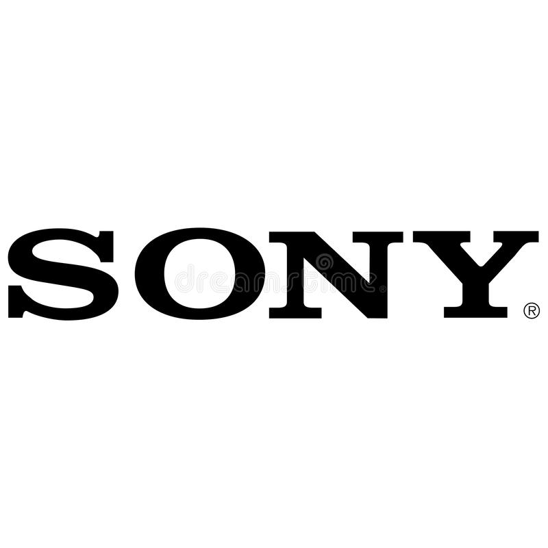 Sony-bedrijfembleem royalty-vrije illustratie