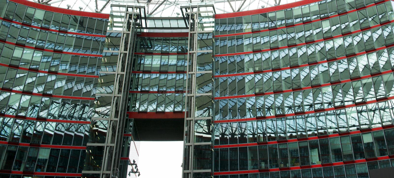 Sony Center, Berlim, Alemanha imagens de stock