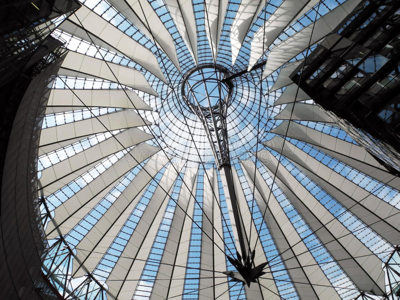 Sony Center in Berlin stock photography