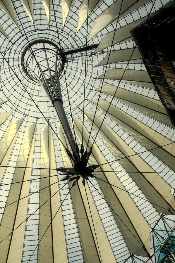 Sony Center in Berlin stock images