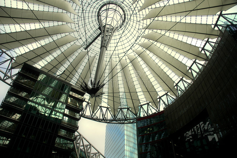 Sony Center in Berlin stock photos