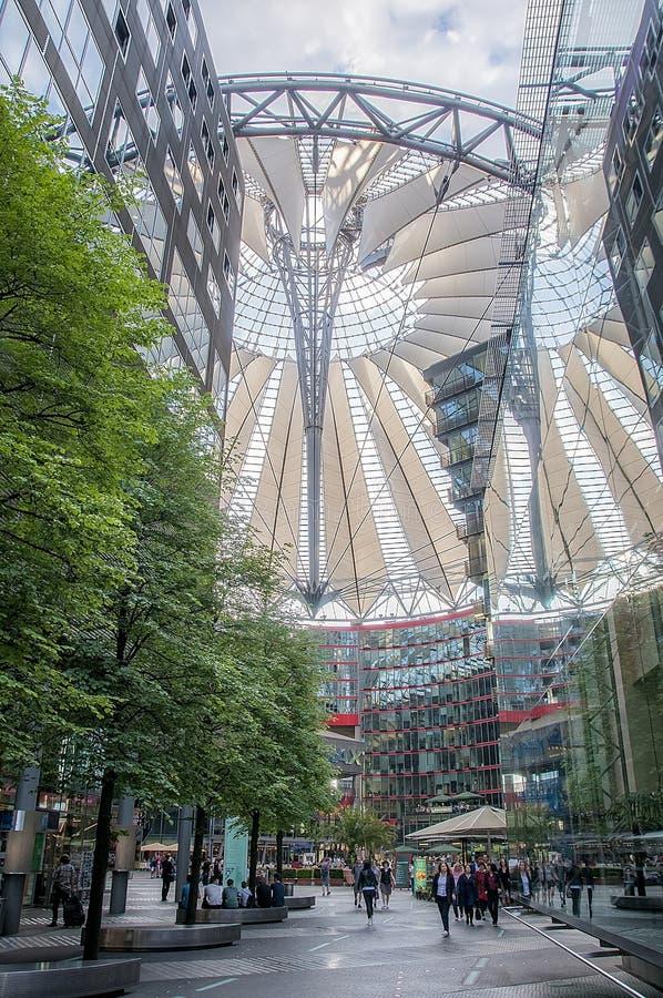 Sony center, Berlin royalty free stock photo