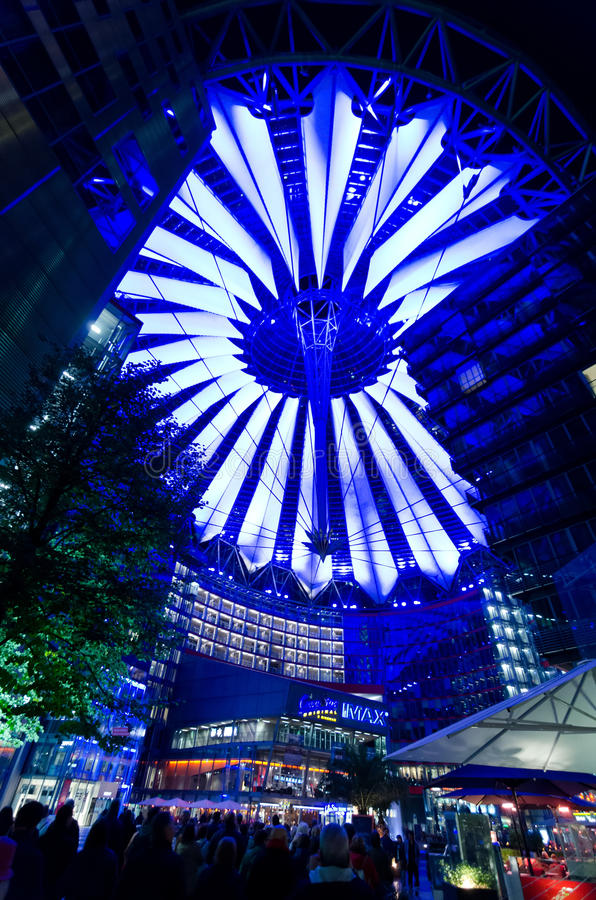 Sony Center in Berlin editorial photo  Image of geometric