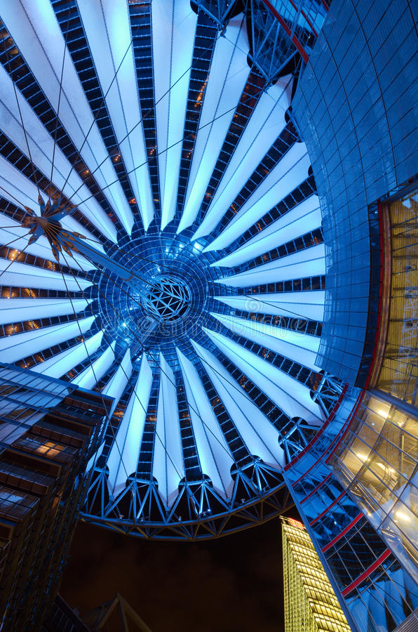Download Sony Center in Berlin stock photo. Image of canary, berlin - 34402138