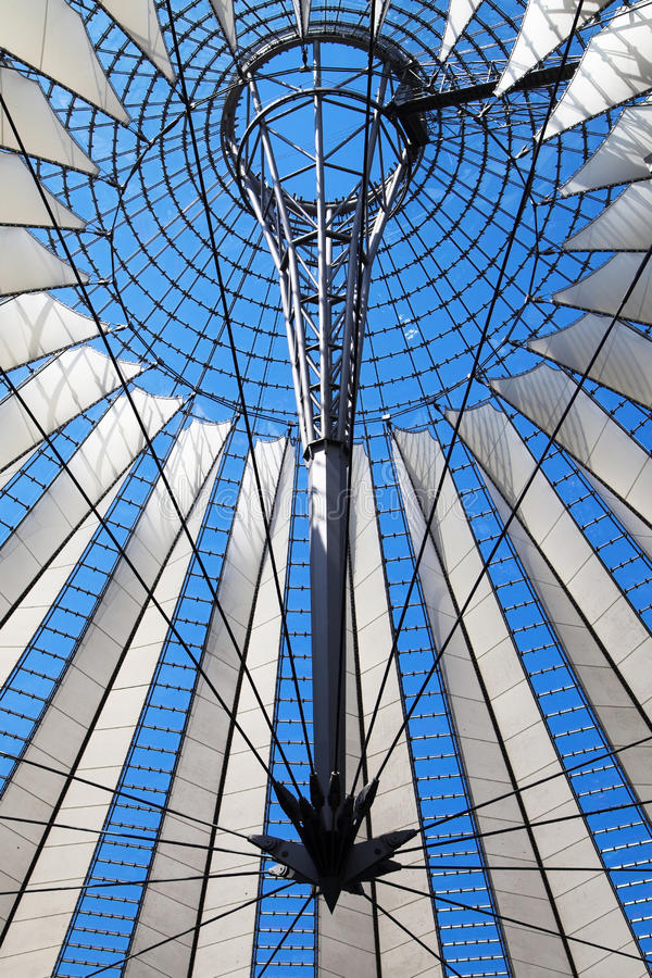 Sony Center Roof stock images